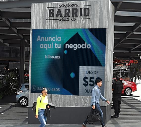Pantalla Digital en Barrio Santa Fe