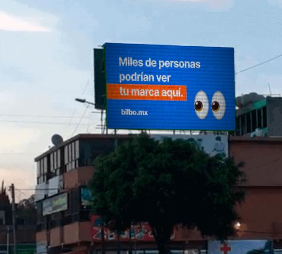 Imagen de pantalla publicitaria en ecatepec México